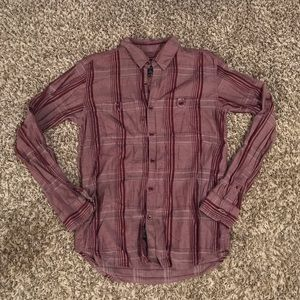 7 For All Mankind Burgundy Plaid Button Down